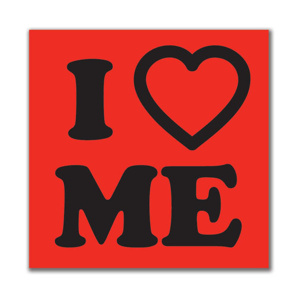 I Heart Me 4x4in. Rectangular Decal Sticker