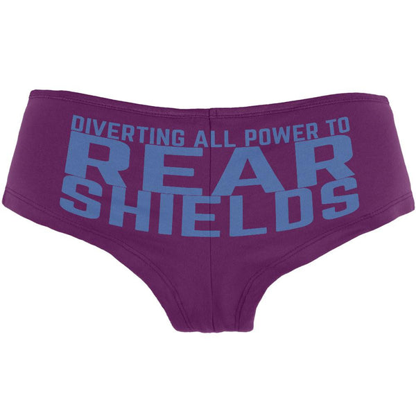 Diverting Power Rear Shields Geek Currant Women's Booty Shorts