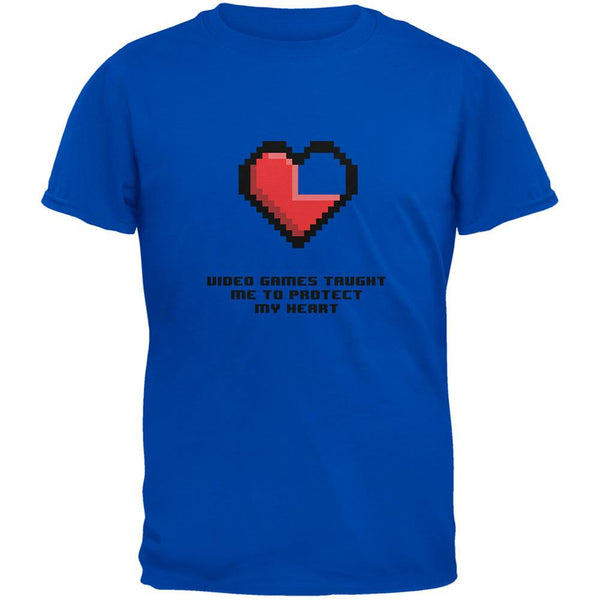 Video Games Protect My Heart Royal Adult T-Shirt