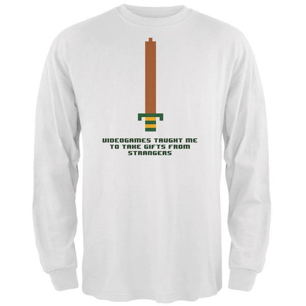 Video Games Gifts From Strangers White Adult Long Sleeve T-Shirt