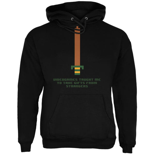 Video Games Gifts From Strangers Black Adult Hoodie