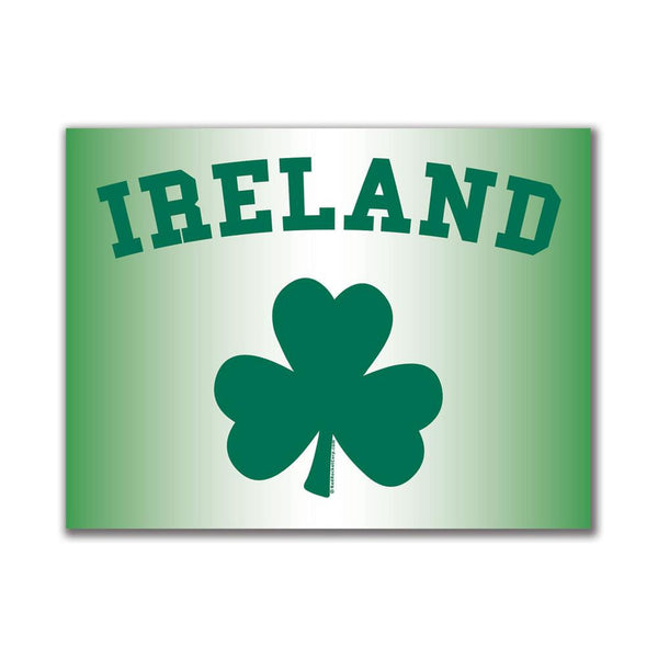 Ireland Shamrock 3x4in. Rectangular Decal Sticker
