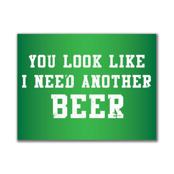 Another Beer 3x4in. Rectangular Decal Sticker