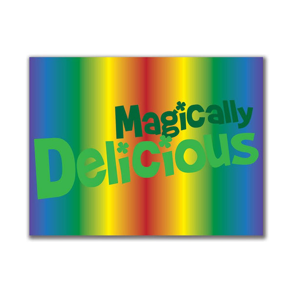 Magically Delicious Rainbow 3x4in. Rectangular Decal Sticker