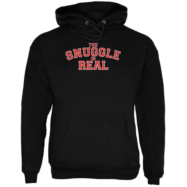 The Snuggle is Real Black Adult Hoodie