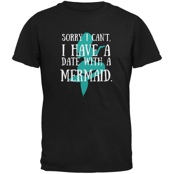 Have A Date With A Mermaid Black Adult T-Shirt