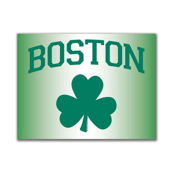 Boston Shamrock 3x4in. Rectangular Decal Sticker