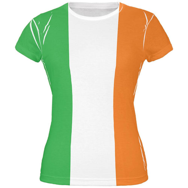 St Patricks Irish Flag All Over Juniors T-Shirt
