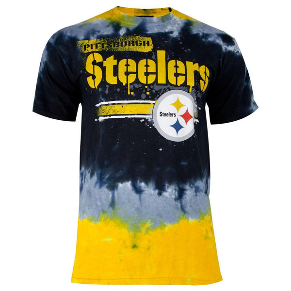 Pittsburgh Steelers - Horizontal Stencil Tie Dye Adult T-Shirt