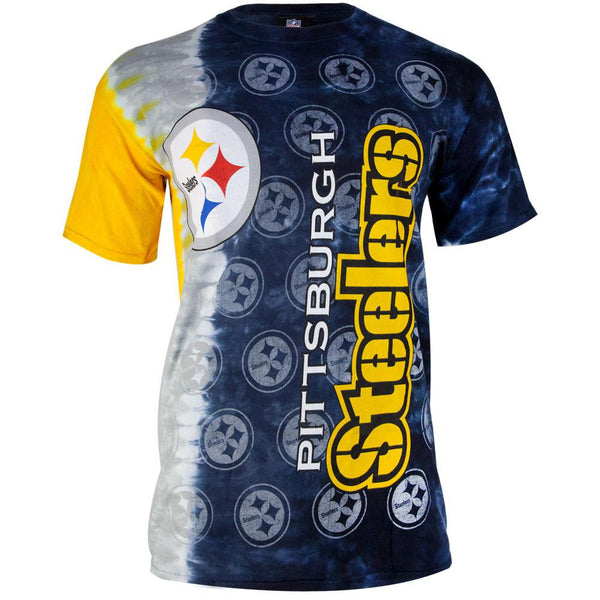 Pittsburgh Steelers - Veritcal Tie Dye Adult T-Shirt
