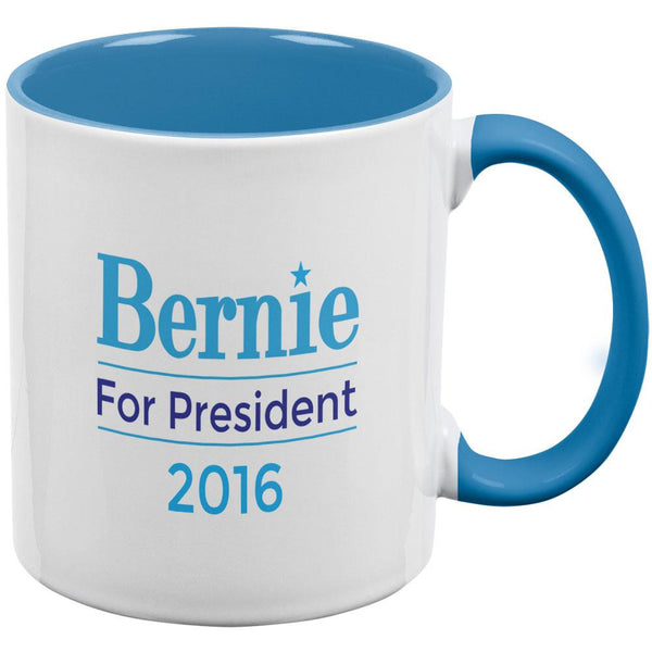 Election 2016 Bernie Sanders for President Aqua Handle All Over Coffee Mug
