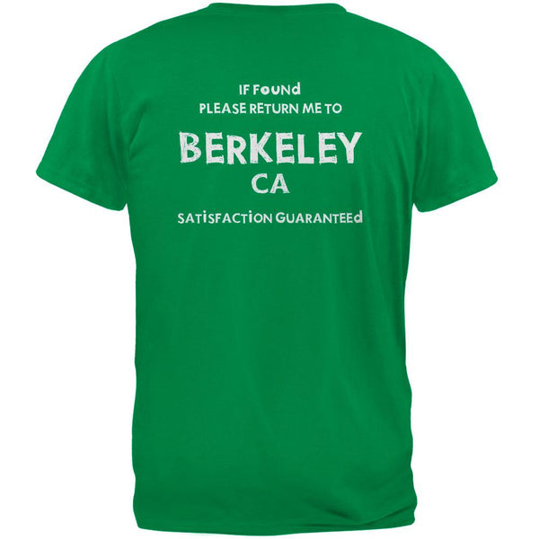 St Patricks Day Return Me to Berkeley Irish Green Adult T-Shirt