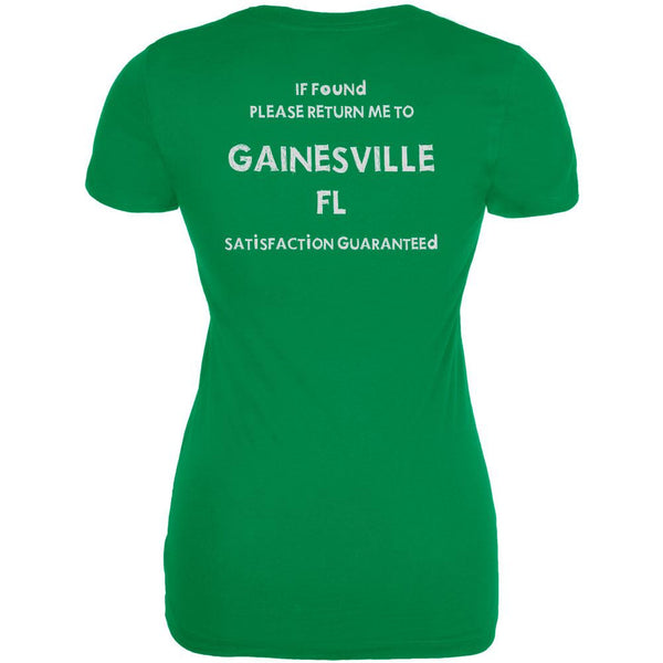 St Patricks Day Return Me to Gainesville Irish Green Juniors Soft T-Shirt