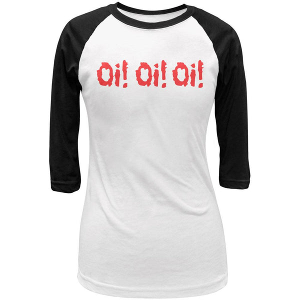 Oi! Oi! Oi! V3 White/Black Juniors Raglan T-Shirt