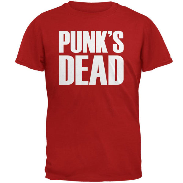 Punk's Dead V3 Red Adult T-Shirt