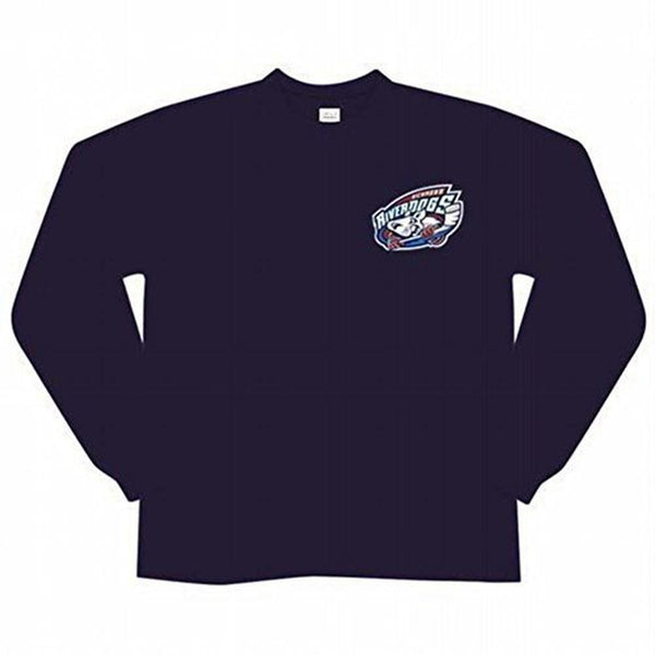 Richmond Riverdogs Logo Navy Long Sleeve T Shirt