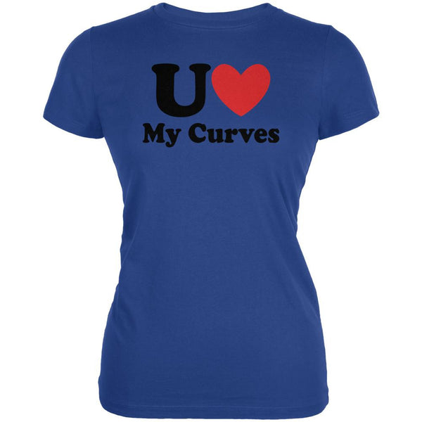 You Heart Love My Curves Royal Juniors Soft T-Shirt
