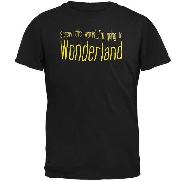 Going to Wonderland Black Adult T-Shirt