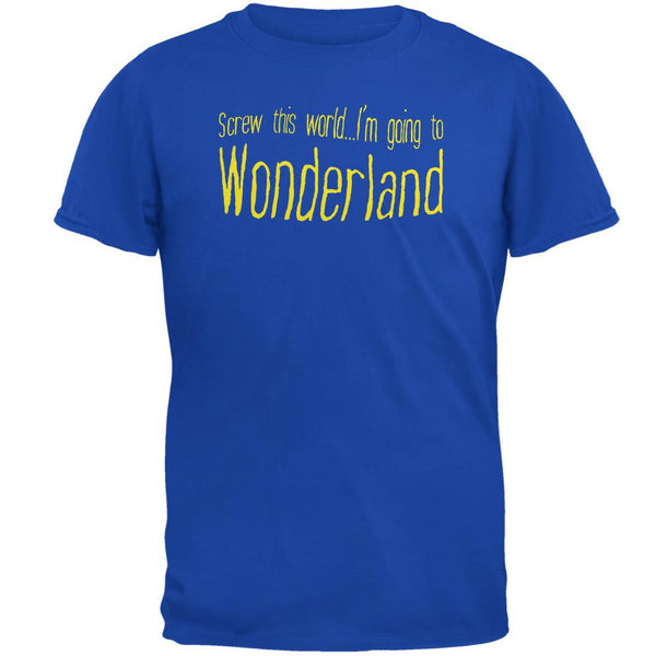 Going to Wonderland Royal Adult T-Shirt