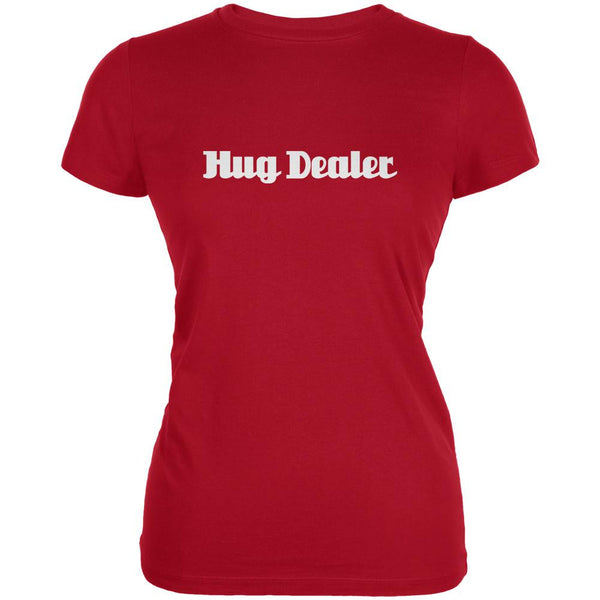 Hug Dealer Red Juniors Soft T-Shirt