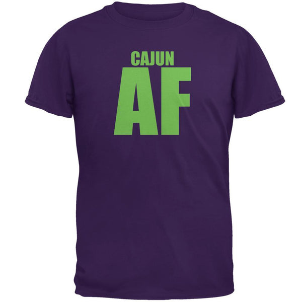 Mardi Gras Cajun AF Purple Adult T-Shirt