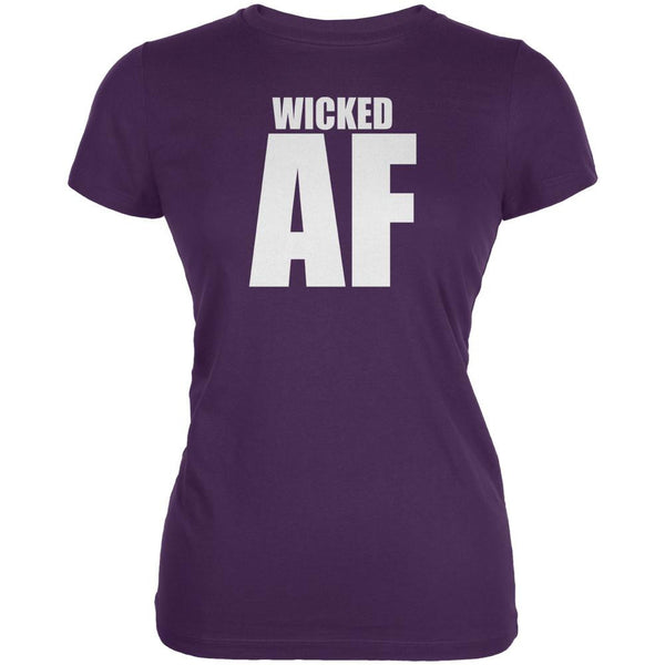 Wicked AF Purple Juniors Soft T-Shirt