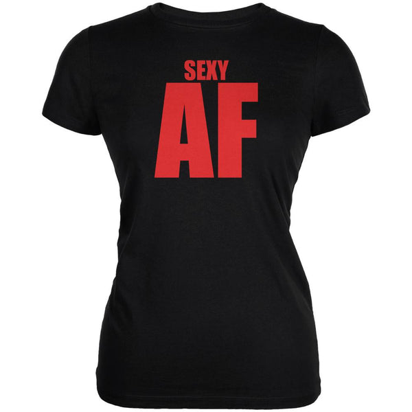 Valentines Sexy AF Black Juniors Soft T-Shirt