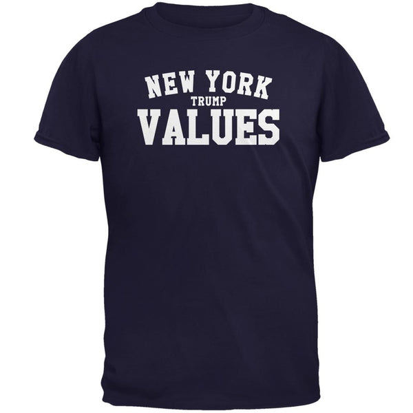 Election New York Trump Values Navy Adult T-Shirt
