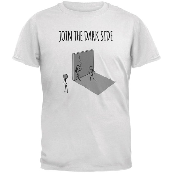 Join the Dark Side White Adult T-Shirt