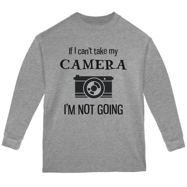 If I Can't Take My Camera, I'm Not Going Sport Grey Youth Long Sleeve T-Shirt