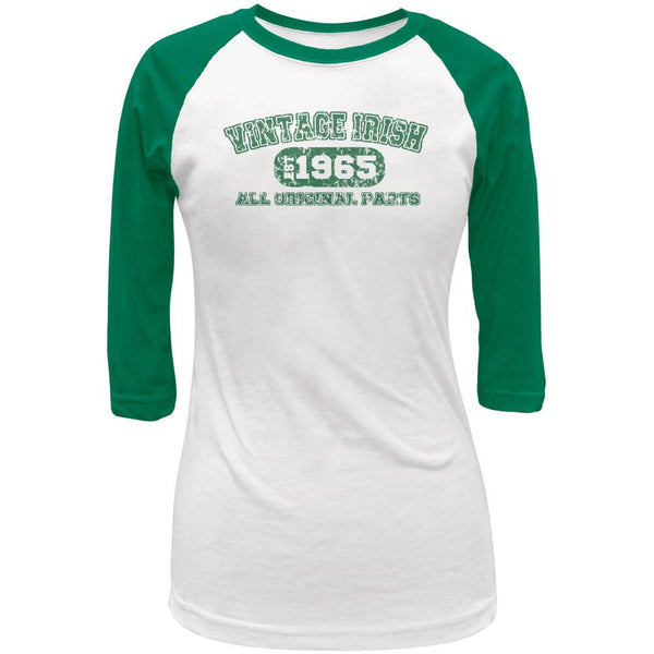 St Patricks Vintage Irish 1965 Juniors 3/4 Sleeve Raglan T-Shirt