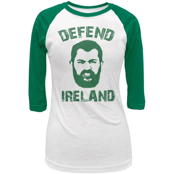 St Patricks Defend Ireland Juniors 3/4 Sleeve Raglan T-Shirt