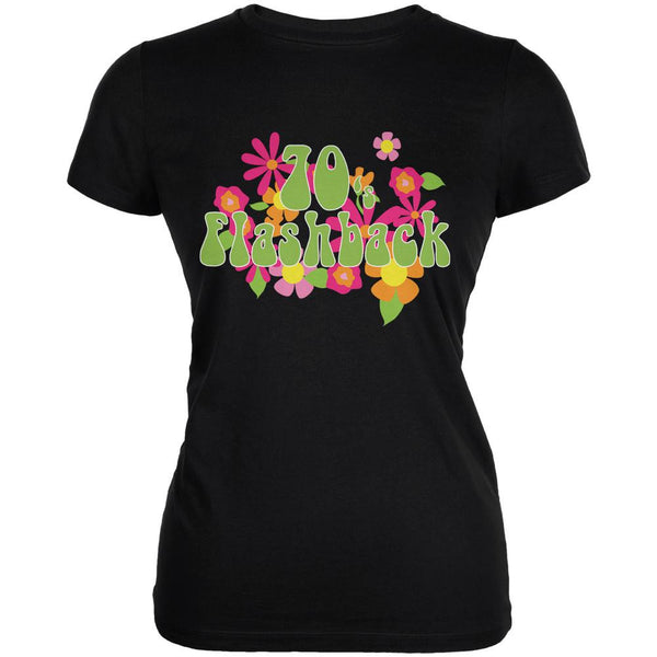 70's Flashback Black Juniors Soft T-Shirt
