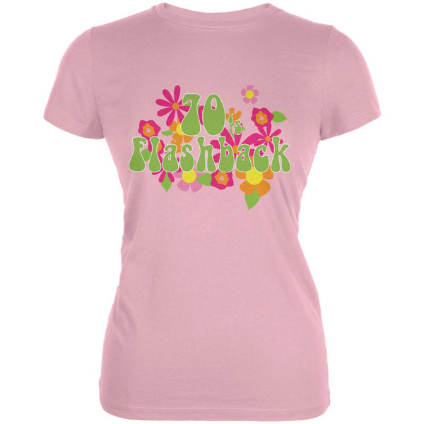 70's Flashback Pink Juniors Soft T-Shirt