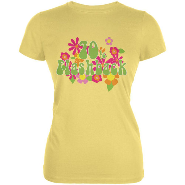 70's Flashback Yellow Juniors Soft T-Shirt