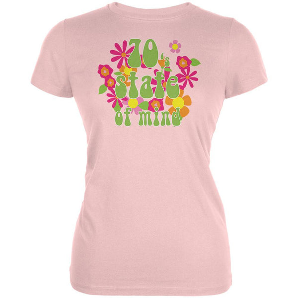 70's State of Mind Pink Juniors Soft T-Shirt