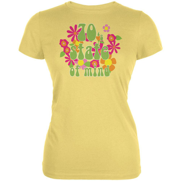 70's State of Mind Yellow Juniors Soft T-Shirt