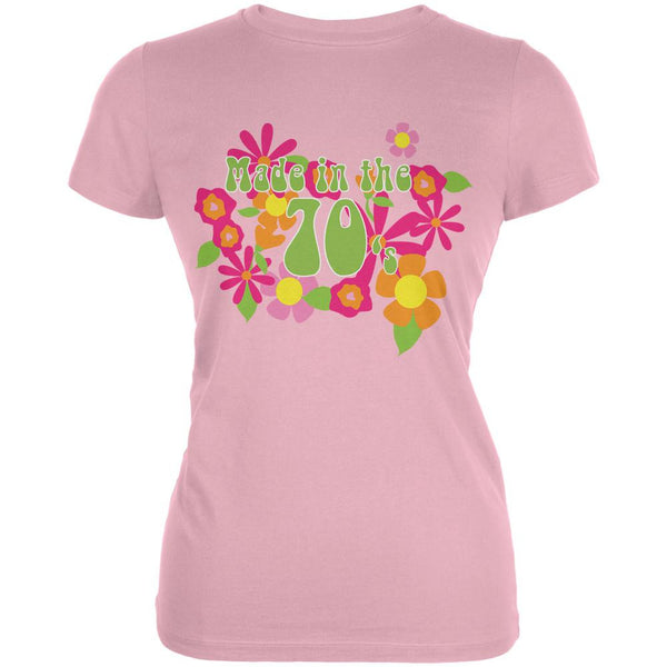 Made In The 70s Pink Juniors Soft T-Shirt