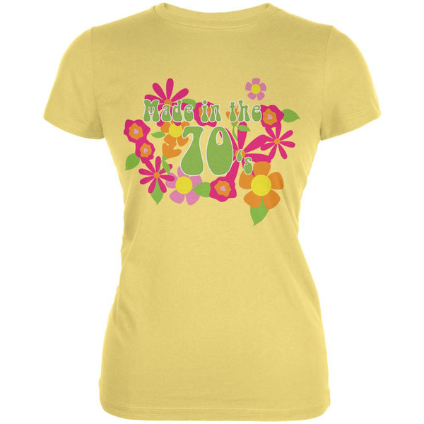 Made In The 70s Yellow Juniors Soft T-Shirt