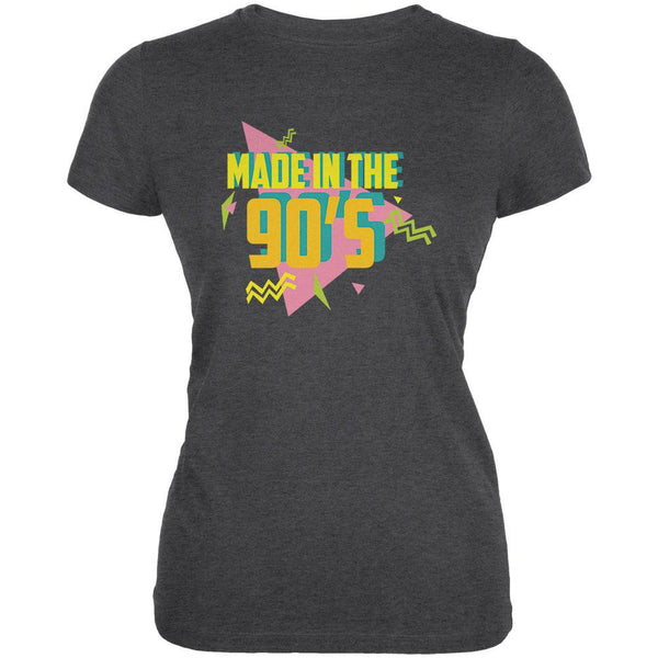 Made In The 90s Dark Heather Juniors Soft T-Shirt