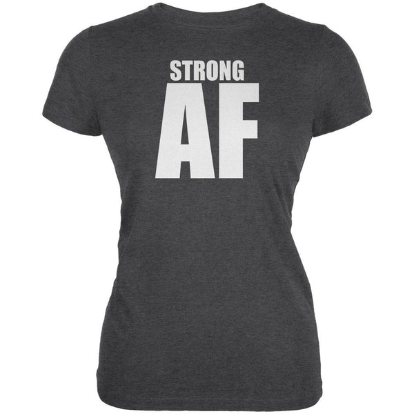 Strong AF Dark Heather Juniors Soft T-Shirt