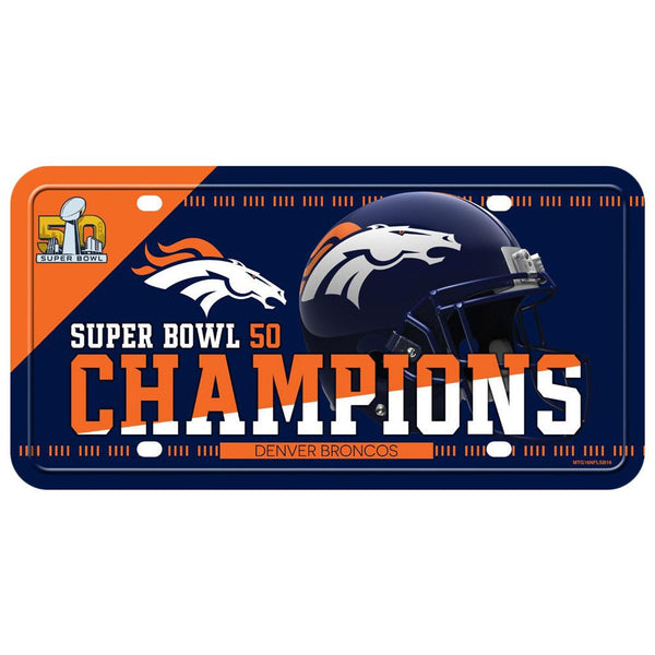 Denver Broncos - Super Bowl 50 Champions License Plate