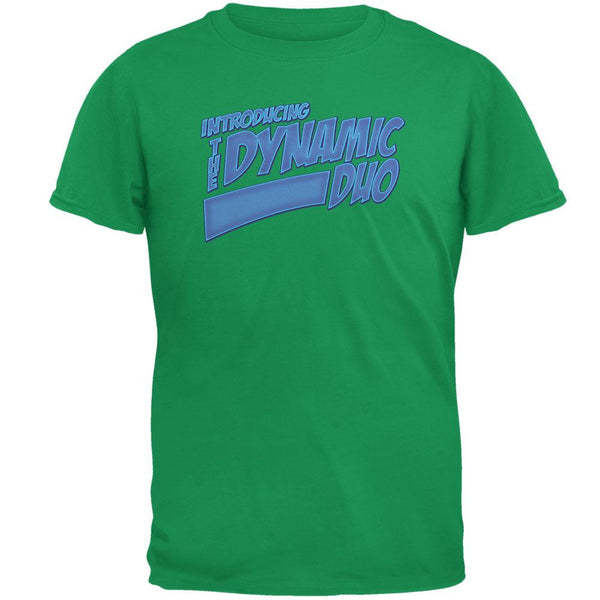 Dynamic Duo Funny Comic Book Irish Green Adult T-Shirt