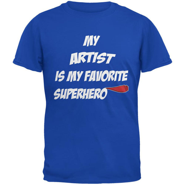 Artist is My Superhero Royal Adult T-Shirt