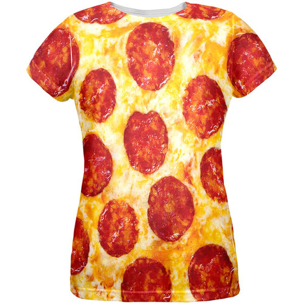 Pepperoni Pizza Costume All Over Womens T-Shirt