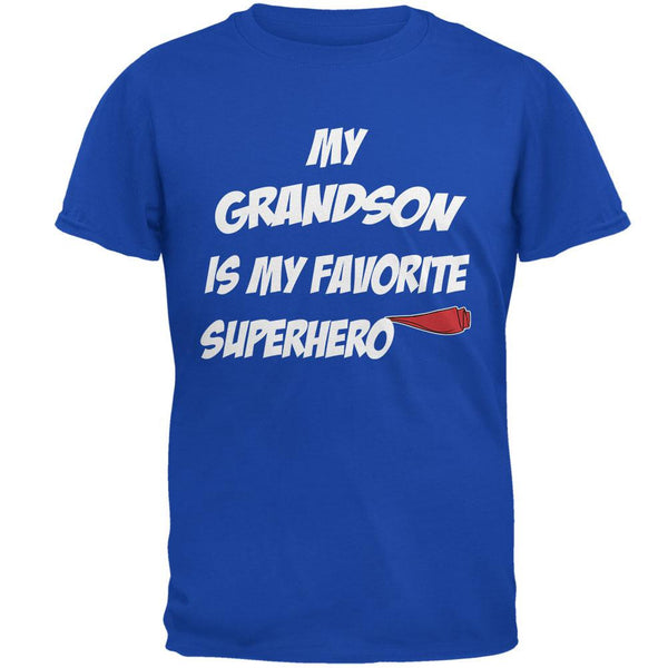 Grandson is My Superhero Royal Adult T-Shirt