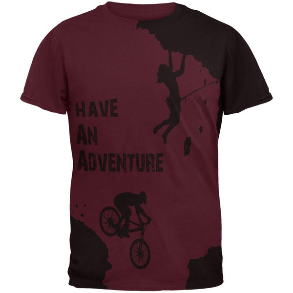 Have an Adventure All Over Maroon Adult T-Shirt