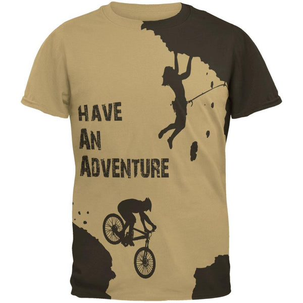 Have an Adventure All Over Tan Adult T-Shirt