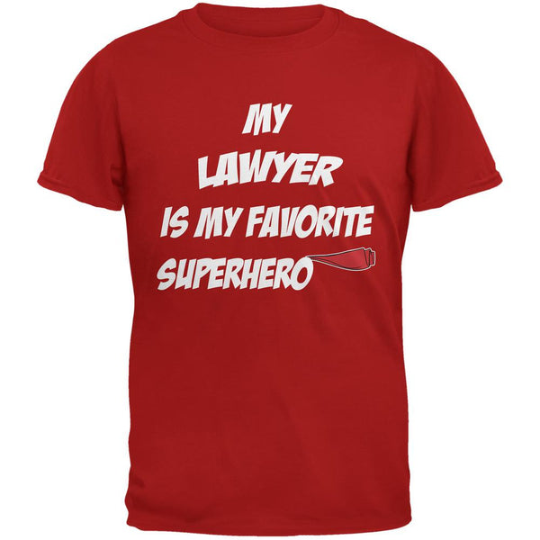 Lawyer is My Superhero Red Adult T-Shirt