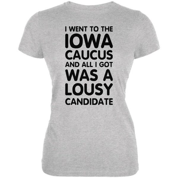 Election 2016 Lousy Candidate IOWA Caucus Heather Grey Juniors Soft T-Shirt